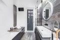 Small, bright bathroom Royalty Free Stock Photo