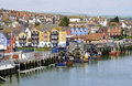 Small British fishing port Royalty Free Stock Photography