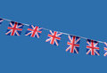 Small British Union Jack celebration flags. Stock Photography