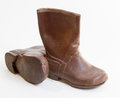 Small brown boots Royalty Free Stock Images