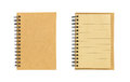 Small brown notebook isolated on white background Royalty Free Stock Photo