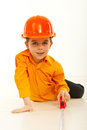 Small builder boy Stock Images
