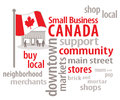 Small Business Canada Word Cloud Stock Photos
