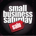 Small business saturday layered type design eps vector illustration Royalty Free Stock Photos