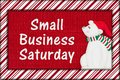 Small Business Saturday message Royalty Free Stock Photo