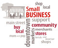 Small Business Word Cloud Stock Photography