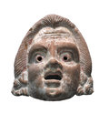 Small bust of Greek man isolated. Royalty Free Stock Photo