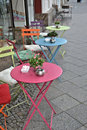 A small cafe at the roadside in berlin Royalty Free Stock Photo