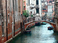 Small canal in venice italy empty street Royalty Free Stock Photos