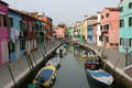 Small canals of Murano Stock Photography