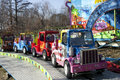 Small cars in the fun park Royalty Free Stock Photo