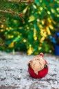 Small ceramic santa claus Royalty Free Stock Photo