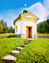 Small chapel with beautiful countryside in pinzgau salzburger land austria Royalty Free Stock Images
