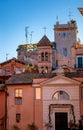 Small chapel hidden in trastevere urbanization photograph of a rome italy Stock Image