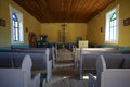 Small chapel interior in texas Royalty Free Stock Photo