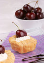 Small cherry tarts Stock Photography