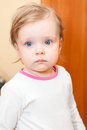 image photo : Small child with blue eyes