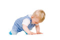Small child crawls Stock Image