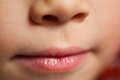 Small child mouth Stock Images