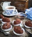 Small Chocolate Sweet Cake Royalty Free Stock Photo