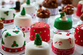Small christmas cakes homemade perfect little presents Royalty Free Stock Photos