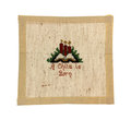 Small Christmas Cross Stitch Embroidery Royalty Free Stock Photography