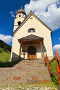 Small church in penia village fassa valley trentino italy Stock Images