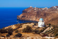 Small church in southern Santorini Royalty Free Stock Photo