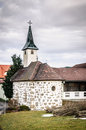 Small church in upper austria a village Royalty Free Stock Photos