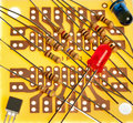 Small Circuit board with resisters on it Stock Photos