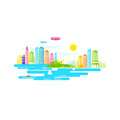 Small city vector illustration design Royalty Free Stock Images