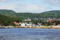 Small coast town view of tadoussac quebec canada from the saguenay river Royalty Free Stock Photography