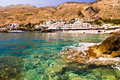 Small coastal village near Chora Sfakion Royalty Free Stock Images