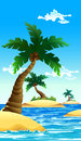 Small coconut island Royalty Free Stock Image