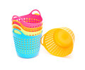 Small and colorful baskets Royalty Free Stock Photo