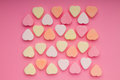 Small colorful hearts Stock Photos