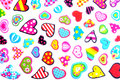 Small colorful hearts valentines day background with Royalty Free Stock Images