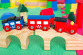 Small colorful toy train for children Stock Photography