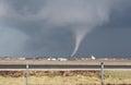 Small cone tornado with debris Royalty Free Stock Photo