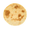 Small cooked pizza crust a on a white background Stock Image
