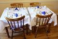 Small, cozy restaurant, decorated table Royalty Free Stock Photo