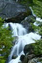 Small creek waterfall somewhere in washington state usa cascades mountains photo collection Stock Images