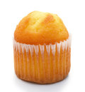 Small cup cake on a white background Stock Photos