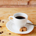 Small cup of strong coffee food closeup Stock Image