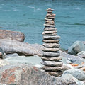 Small and cute rock tower, step by step Royalty Free Stock Images