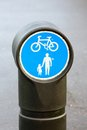 Small Cycle and Pedestrian Sign Royalty Free Stock Photo