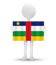 Small d man holding a flag of central african republic illustration Royalty Free Stock Photos