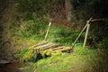Small Damaged Wooden Bridge