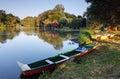 Malý Dunaj na Slovensku s vodný mlyn