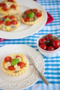Small and delicious quiche Stock Images
